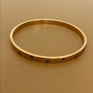 Swarovski gold bangle bracelet